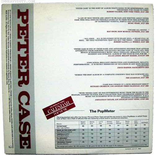 Peter Case -- Peter Case (Promo Cover)
