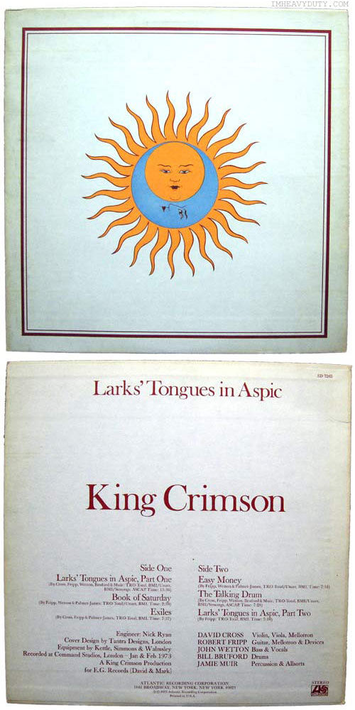 King Crimson -- Larks\' Tongues in Aspic