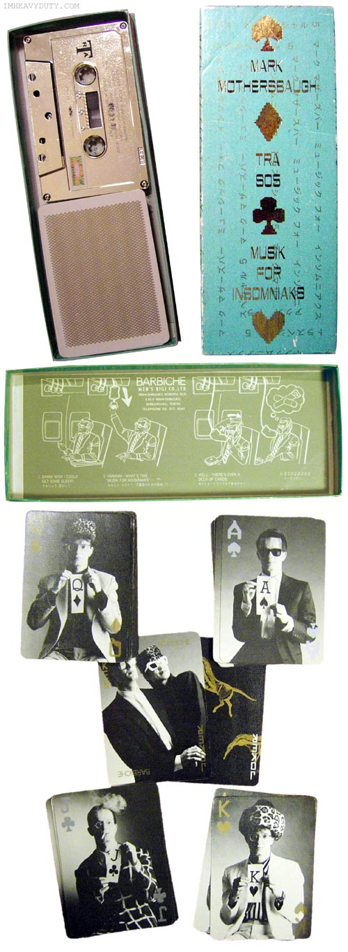 Mark Mothersbaugh -- Musik for Insomniaks (Limited edition Japanese boxed cassette with deck of cards)