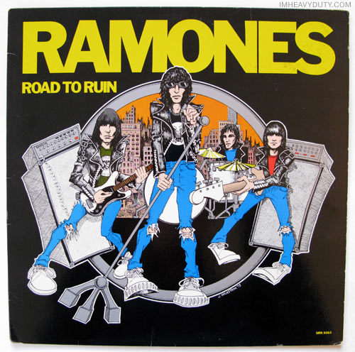Ramones - Road to Ruin (album cover front)